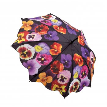Galleria Umbrellas Pansies Umbrella