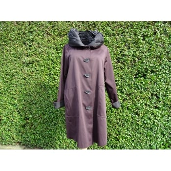 UbU Reversible Coat Black/chocolate