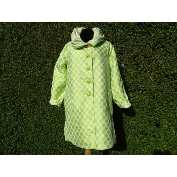 UBU Reversible Coat Kiwi dot white/white dot kiwi