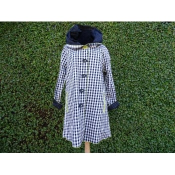 UbU Reversible Coat  Black white gingham/black