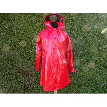 UbU Rain slicker smock Jacket Red
