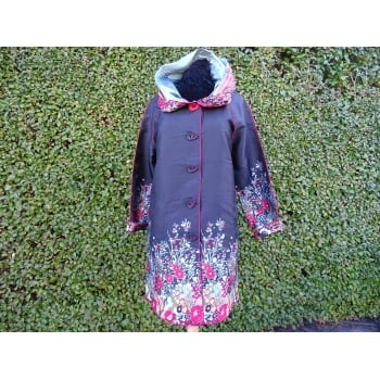 UBU Reversible Coat Red floral