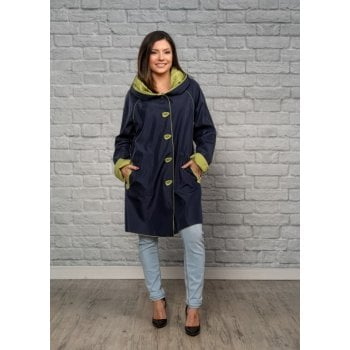 UbU Reversible Coat Navy/spring green