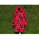 Reversible Coat Black red daisy/red