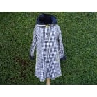 Reversible Coat  Black white gingham/black