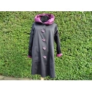 Reversible Coat Raspberry/black