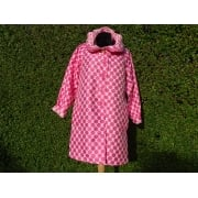Reversible Coat Pink dot white/white dot pink