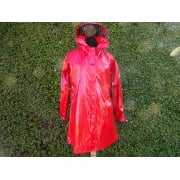 Rain slicker smock Jacket Red